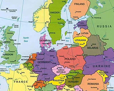 Current Map of Europe